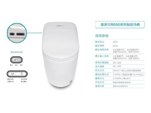 嘉博天堂官网注册R650系列智能马桶
